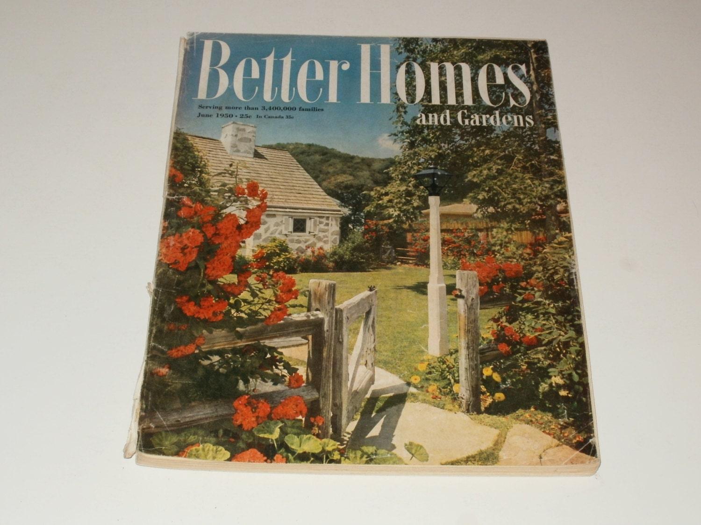 Vintage better homes and gardens magazine june by kennyscrafts for Better home and garden magazine