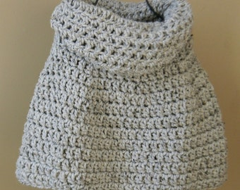 Erin Cowl neck Capelet poncho shawl - Grey Marble