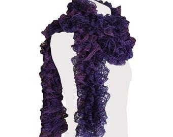 Handmade Purple Scarf by CraftCrazy4U on Etsy