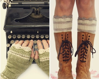 Brooklyn Boot Liners & Mitts PDF Knitting Pattern Instant Download