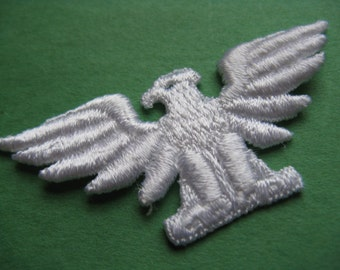 military eagle patch 70s NRA military insignia appliqué vintage jacket patch new old stock