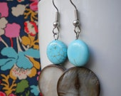 Shell and Turquoise Fiona Earrings