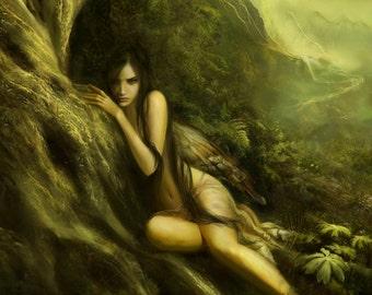 Moss Maiden Perfume Oil - Ferns, Bark, Lichen, Crushed Autumnal Greens, and Moss