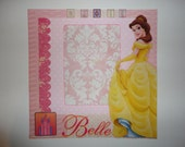 Princess - Beauty and the Beast - Belle - Magic 8 x 8 scrapbook page