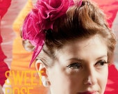 DIY Hat Kit! Make your own Sweet Rose Sinamay Fascinator- Includes detailed instructions and materials 25+ colours!