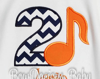 Music Birthday Shirt, Birthday Number, Birthday Shirt, Monogrammed, Personalized, Girls Birthday Shirt, Boys Birthday Shirt