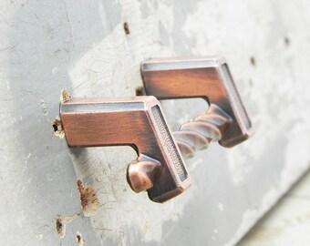 7 vintage drawer pulls handles