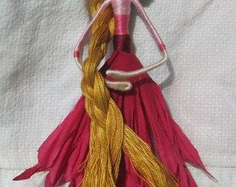 Rapunzel Flower Fairy - Dollhouse Doll -  Waldorf Flower Fairy Doll - 5 1/2-6 inches
