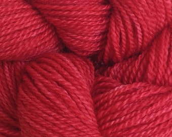 Merino Wool Yarn Lace Weight in Strawberry Red Hand Painted