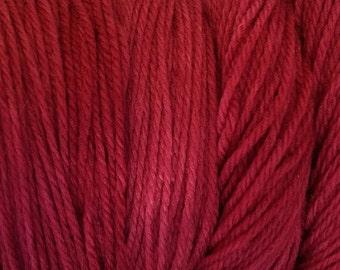 Burgundy Red DK Sport Weight Hand Dyed Merino Wool Yarn