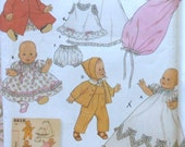 Baby Doll Clothes Sewing Pattern UNCUT Simplicity 5215 dress gown coat