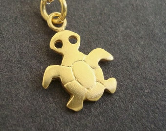 Tiny Charm Necklace Gold Plated Sterling Silver Whale Turtle Bird Dinosaur Penguin Hedgehog Bunny Kids Birthday Sea animal gift Summer charm