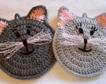 Mr and Mrs KATZ wearing her earrings Wall Hanging / Potholder