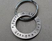 Personalized Grandpa Keychain Dad Mom Grandma Grandpa Keychain New Baby New Parent Gift Keychain