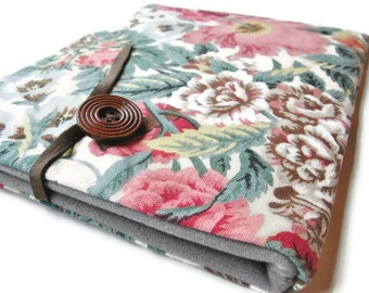 ipad  Air  Case / ipad 2 Cover / Flowered Cotton Linen / Kindle DX