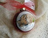 Hand Painted Christmas Ornament Baby Deer