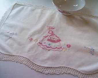 Embroidered in Pink Doily