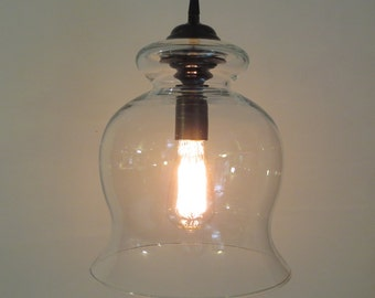 BoothBay.  Light  PENDANTS - Large Bell with Edison Bulb  LAST ONE available!