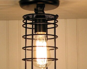 Auburn. Industrial Inspired Ceiling LIGHT with Edison Bulb