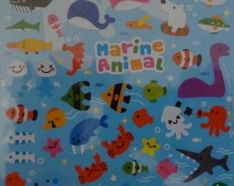 Kawaii Little Marine Animal Sticker Sheet