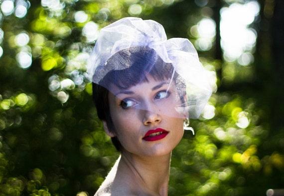 Birdcage Veil, Wedding Veil, Blusher Veil, Mini Tulle Veil, Bachelorette Veil