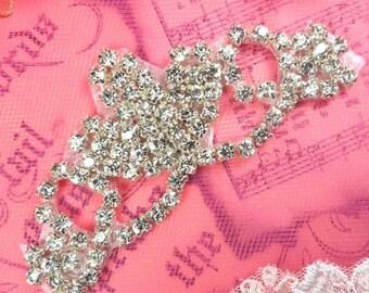 """ACT/XR243/A Rhinestone Crystal Applique Elegant Tiara Silver Crystal 3.75""""   (ACT/XR243/A-slcr)"""