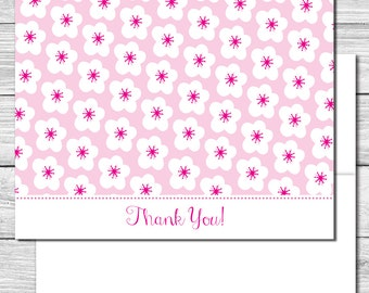 Thank you Notes--Mama and Baby Bird Flowers--507S
