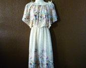 Vintage Batwing Disco Dress, Women's Size 5