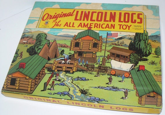 1930s The Original Lincoln Logs Box Set All American Toy With