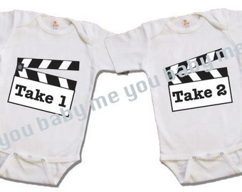 Take 1 Take 2 twin shirt, Funny twin shirt, Twin clothing