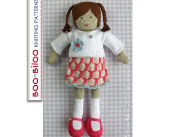 Laila - girl doll toy knitting pattern