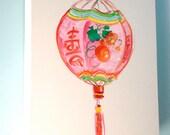 Pink Chinese Lantern Painting 16x20