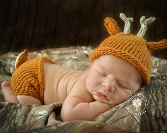 Little Deer Made to Order Little Deer Hat and Diaper Cover