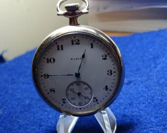 Nice Gentlemen's 12 Size Elgin 15 Jewels Pocket Watch