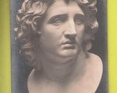 Alexandre le grand bust ROME italy roma style bust unused vintage postcard