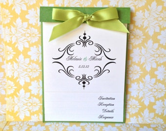 50 Wedding Invitations - NEW Layered Booklet Wedding Invitation - 15th, 16th, 18th, 21st, 30th, 40th, 50th, 60th