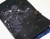 Aquarius  Embroidered Book Cover