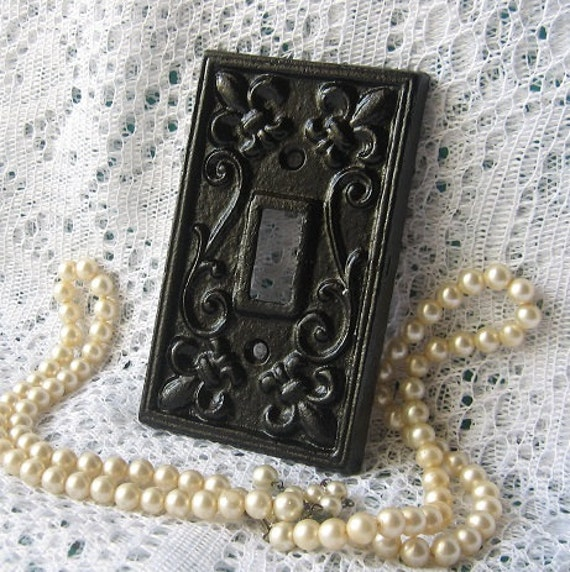 Cast iron black switchplate light switch cover by