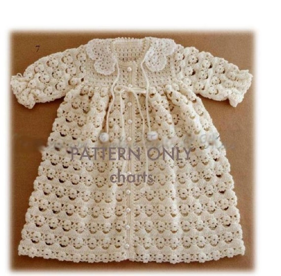 Crochet Baby Coat Pattern : Crochet Pattern Baby Crochet Coat/ Gown/ Jacket by carolrosa