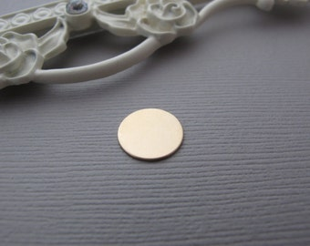 5/8 14 KT Gold Filled Disc  Extra Add On  Listing Is for One Disc Only