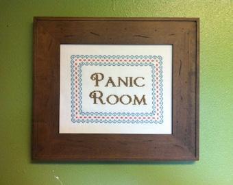 Panic Room Cross-Stitch Downloadable PDF Pattern