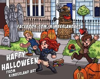 Doctor Who Halloween Print