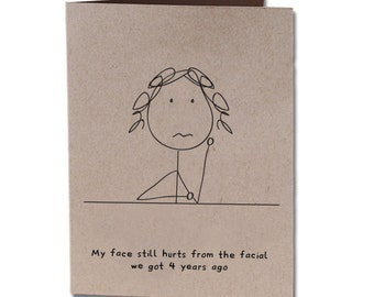 Thank You Humor Greeting Card Facial