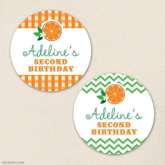 Orange Party - Custom Stickers - Sheet of 12 or 24