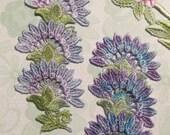Sun Flower Hand Dyed Venise Lace Crazy Quilt Embellishment Applique