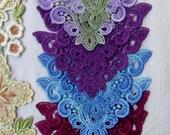 Lace Frame Corners Hand Dyed Venise Embellishment Appliques