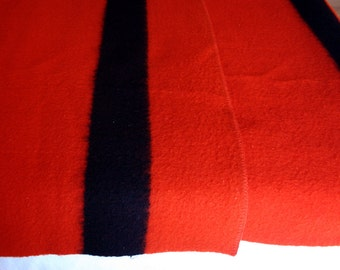 Vintage Red  Wool Blanket / Orrlaskan Wool Blanket Double Bed Size