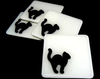 Black and White Cat Coasters