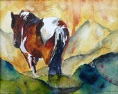 Going Home Horse Watercolor Print by Maure Bausch