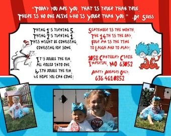 "Birthday Party Invitation ""Dr. Suess"""